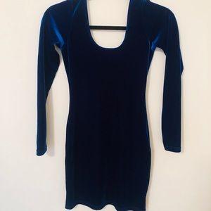 Velvet American Apparel blue bodycon dress